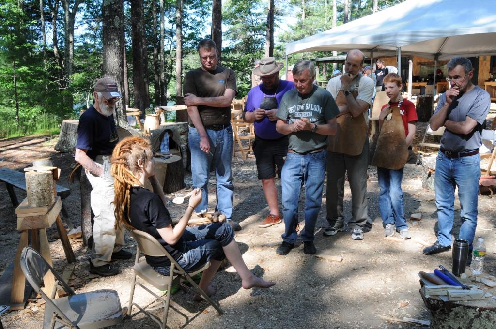 jojo wood teaching an advanced spoon carving class in america 2016