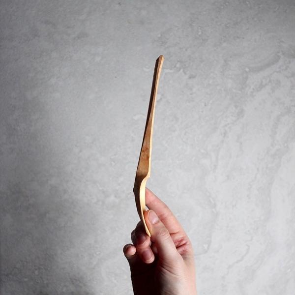 Long faceted alder spoon