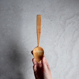 Long alder spoon