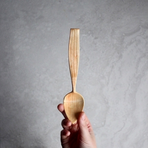 Long faceted alder spoon
