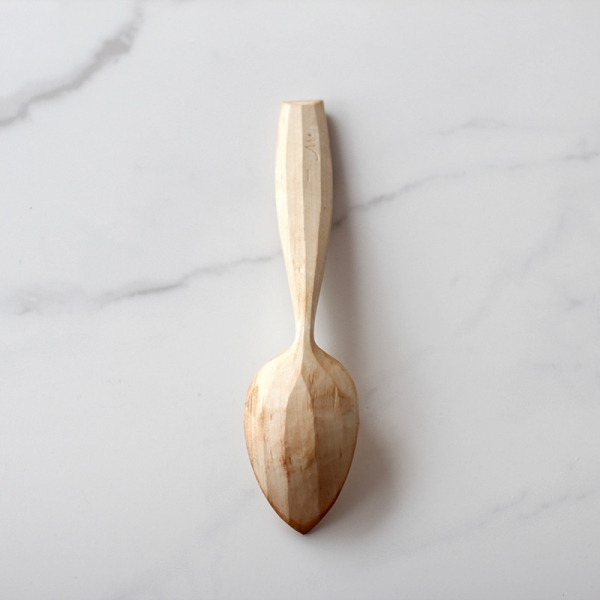 Faceted bowl spoon