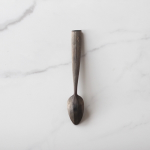 Long handled blue teaspoon
