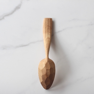 Long curvy birch spoon