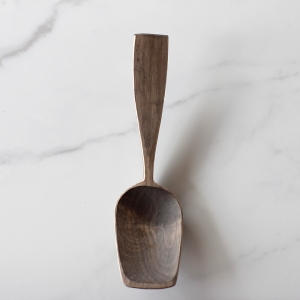 Blue bent branch spoon